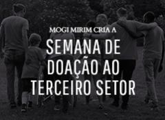 """Mogi Mirim cria a """"Semana de Doação ao Terceiro Setor"""""""